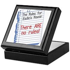 No Rules at Zadie's House Keepsake Box