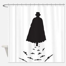 Jack the Ripper with Crows Shower Curtain