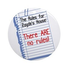 No Rules at Zayde's House Ornament (Round)