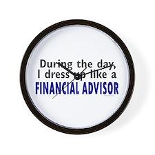 Dress Up Like A Financial Advisor Wall Clock