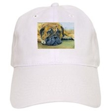 Waiting-Bullmastiff Baseball Cap