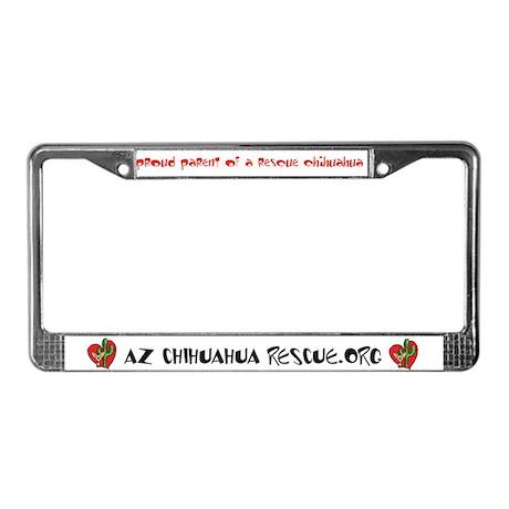 AZ Chihuahua Rescue License Plate Frame