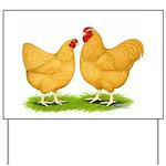 Buff Wyandotte Chickens Yard Sign