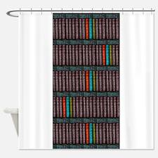 Vintage Books Bookcase Bookshelf Shower Curtain