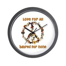 Dogs Of Peace Wall Clock