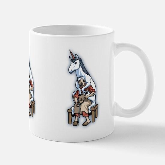 Unicorn on the Cobbler Mug
