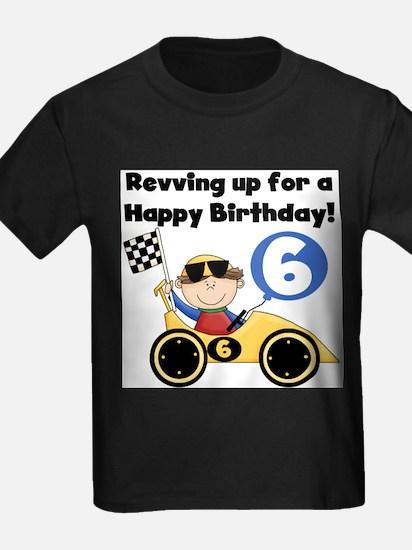 Race Car 6th Birthday T-Shirt