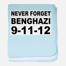 Benghazi Never Forget baby blanket