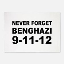Benghazi Never Forget 5'x7'Area Rug