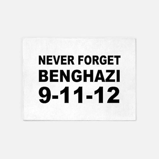 Benghazi Never Forget 5'x7'Area Rug