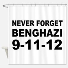 Benghazi Never Forget Shower Curtain
