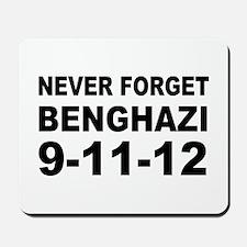 Benghazi Never Forget Mousepad