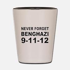 Benghazi Never Forget Shot Glass