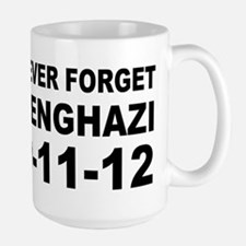 Benghazi Never Forget Large Mug