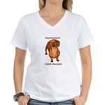 Mmmm I Smell Chocolate! Women's V-Neck T-Shirt