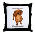 Mmmm I Smell Chocolate! Throw Pillow