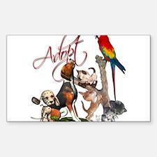 Adopt a Pet Rectangle Decal 10 pk) Decal