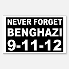 Benghazi Never Forget Sticker (Rectangle)