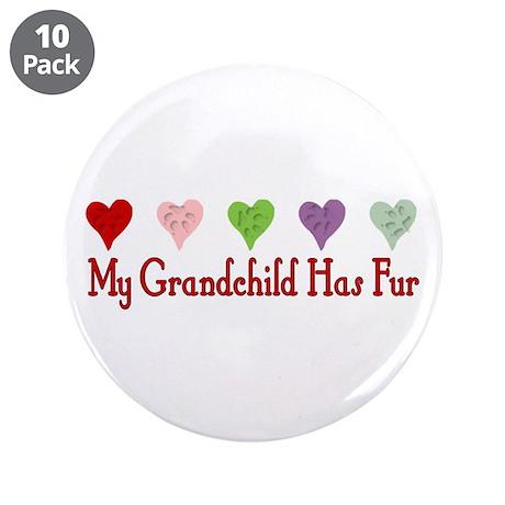 "Furry Grandchild 3.5"" Button (10 pack)"