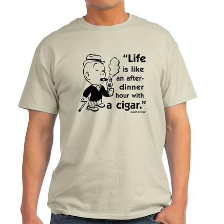 Cigar Smoker V Light T-Shirt