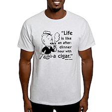Cigar Smoker V T-Shirt