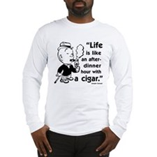 Cigar Smoker V Long Sleeve T-Shirt