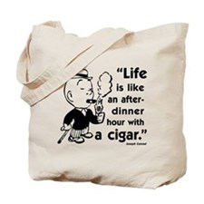 Cigar Smoker V Tote Bag