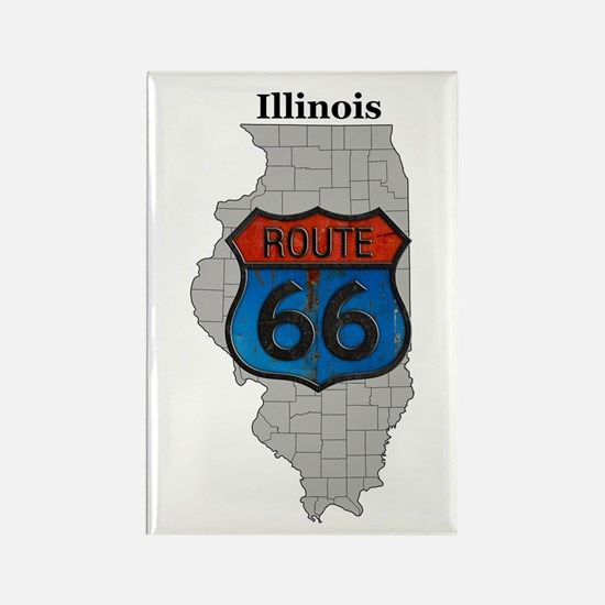 Illinois Route 66 Magnet Magnets