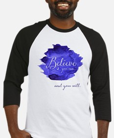 Believe You Can And You Will Blue Baseball Jersey