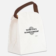 Where All Love Is Outlander Canvas Lunch Bag