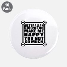 "Australian Shepherd Dog Make 3.5"" Button (10 pack)"