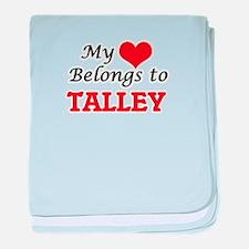 My Heart belongs to Talley baby blanket