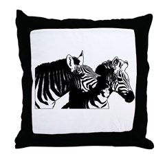 Zebra Fun Throw Pillow