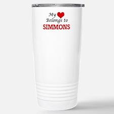 My Heart belongs to Sim Stainless Steel Travel Mug