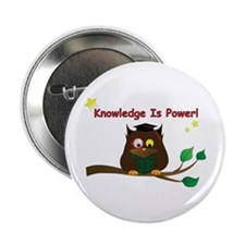 "Wise Owl 2.25"" Button"