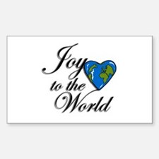 Joy to the world! Rectangle Decal