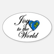 Joy to the world! Oval Decal