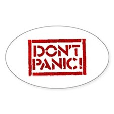 Hitchhiker - Don't Panic! Decal