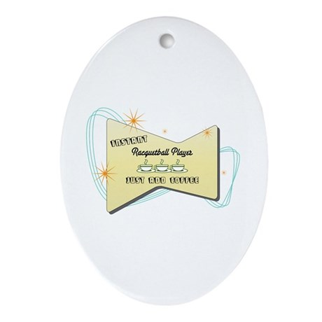 Instant Racquetball Player Oval Ornament