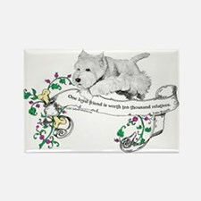 Loyal Westhighland White Terr Rectangle Magnet