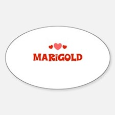 Marigold Oval Decal