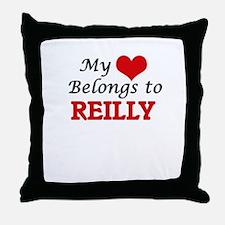 My Heart belongs to Reilly Throw Pillow