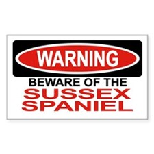 SUSSEX SPANIEL Rectangle Decal