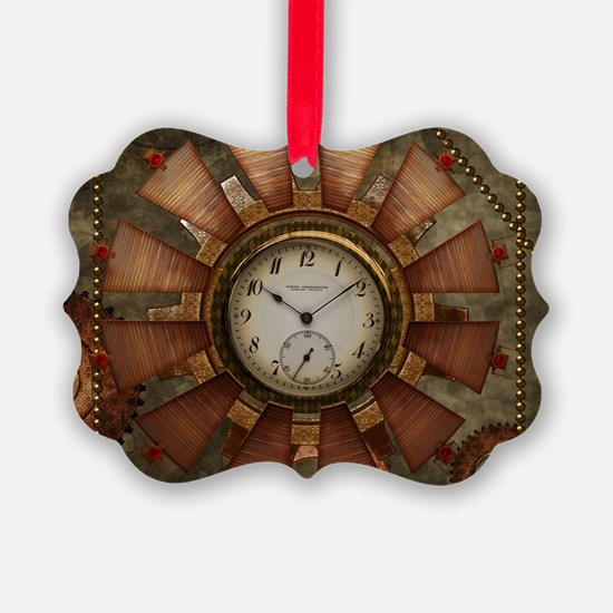 Steampunk with clocks and gears Ornament