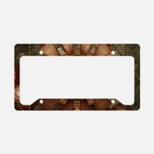 Steampunk with clocks and gears License Plate Hold