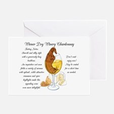 Chardonnay Dachshund Greeting Cards