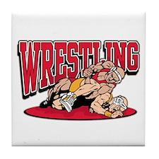 Wrestling Takedown Tile Coaster