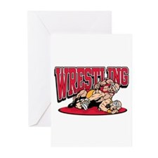 Wrestling Takedown Greeting Cards (Pk of 20)