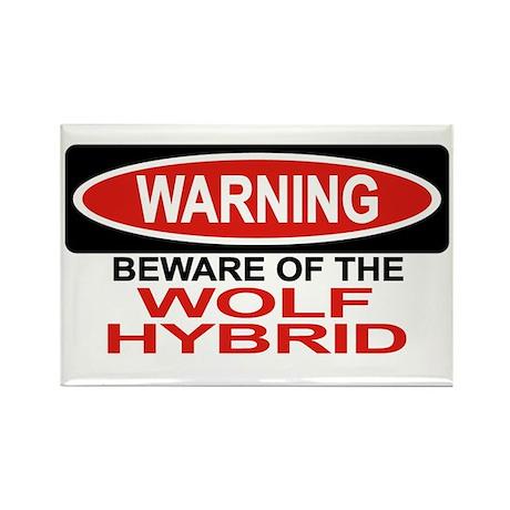 WOLF HYBRID Rectangle Magnet (10 pack)