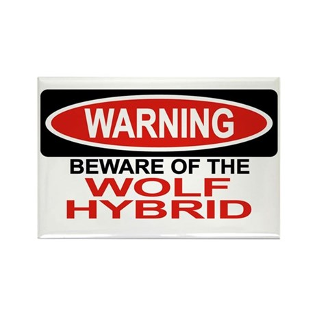 WOLF HYBRID Rectangle Magnet (100 pack)